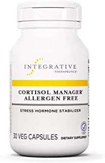 Cortisol Manager - Integrative Therapeutics - Sleep, Stress, and Cortisol Support Supplement* with Ashwagandha, Magnolia, and L-Theanine - Support Adrenal Health* - Vegan (30 Count Allergen Free)