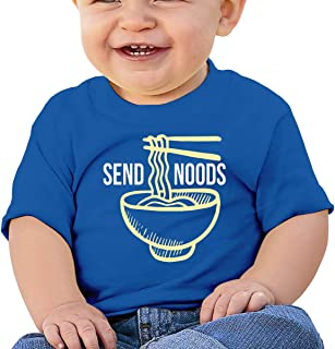Send Noods Ramen Noodles Baby Unisex Toddler Short Sleeves T-Shirt One-Piece