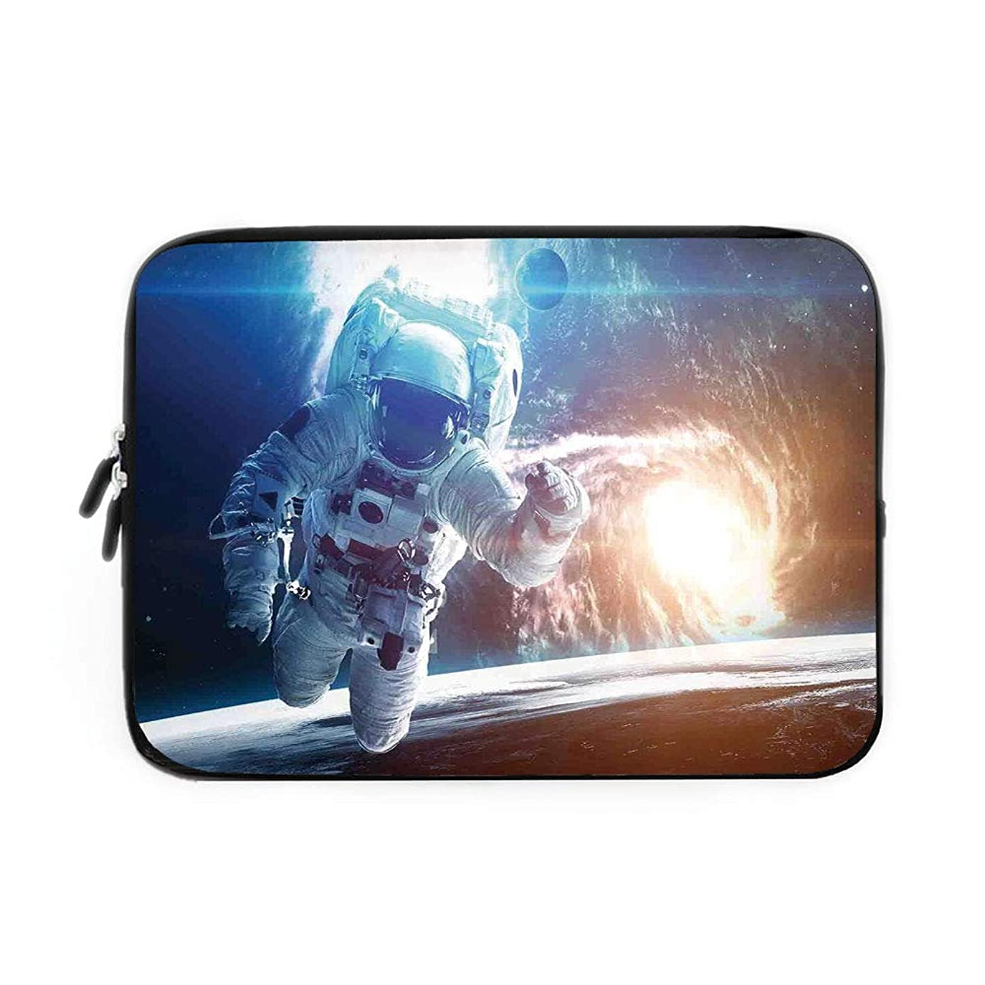Outer Space Decor Laptop Sleeve Bag,Neoprene Sleeve Case/Spaceman in Galaxy in Front of Nebula Gas Cloud Interstellar Art Print/for Apple MacBook Air Samsung Google Acer HP DELL Lenovo AsusBl