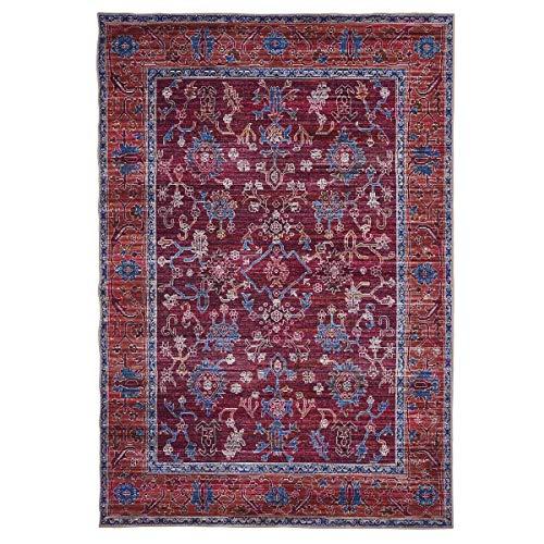 WEBTAPPETI.IT Bagdad Orchid - Alfombra turco para salón, pelo bajo, lavable, 200 x 290 cm