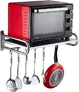 WANG YUE Cuisine Four à Micro-Ondes Grilles de Four Fixation Murale en métal à 2 Niveaux Support de Rangement en Acier Ino...