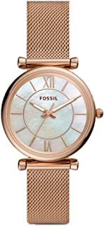 Fossil Women's Analogue Quartz Watch With Stainless Steel Strap Es5058Set, ROSE GOLD