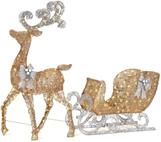 Best silver sleigh and reindeer Reviews