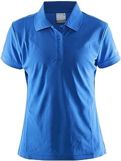 Craft 192467 Womens Pique Polo Shirt, Blue/Grey - S