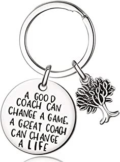 PLwelth Coach Keychain Gift for Women and men Coach Appreciation A Good Coach Can Change A Game,A Great Coach Can Change A Life Key Ring Jewelry for Teacher's Day, Thanksgiving, Christmas Gift