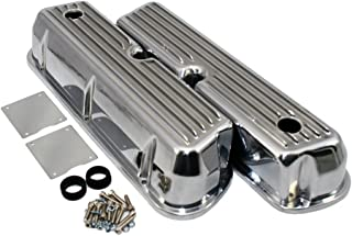 Assault Racing Products A6728-3 for Small Block Ford Finned Polished Aluminum Tall Valve Covers Retro SBF 289 302 351W 5.0