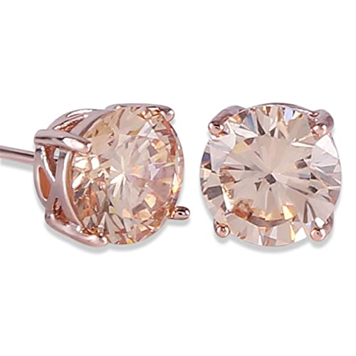 7422130c4 GULICX Rose Gold Tone Yellow Crystal Royal Journey Jewelry Eternity Stud  Earring