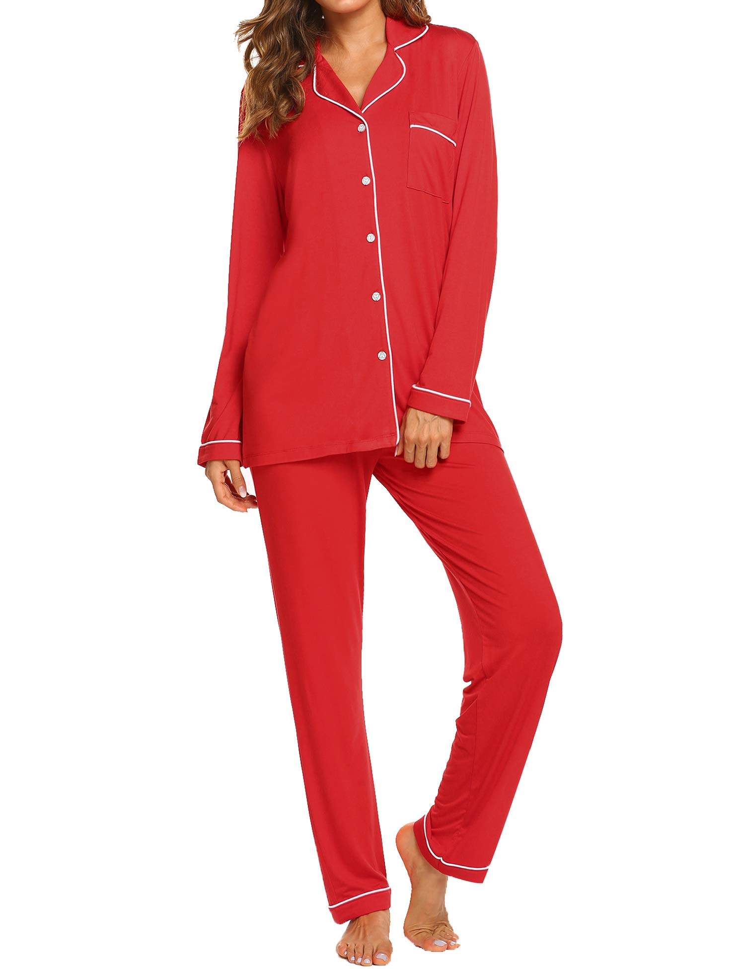 Image of Comfy and Stylish Red Pajamas for Women - Perfect for Christmas