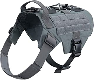 EXCELLENT ELITE SPANKER Tactical Dog Harness No-Pull Service Working Dog Vest Adjustable Military Patrol K9 Dog Harness with Handle