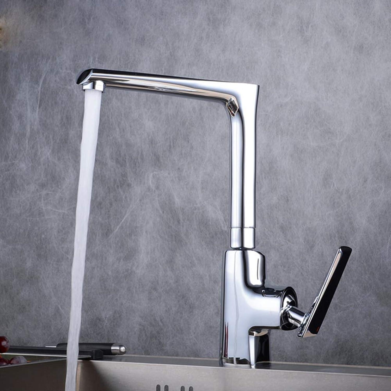 Kitchen Faucet, Square Copper Matte Black Bathroom Sink Faucet-B