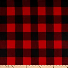 Newcastle Fabrics Polar Fleece Kara Check Black/Red Fabric by the Yard