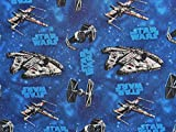 1/2 Yard - Star Wars Vehicles Cotton Fabric - Officially Licensed (Great for Quilting, Sewing, Craft Projects, Throw Pillows, Quilts & More) 1/2 Yard X 44'
