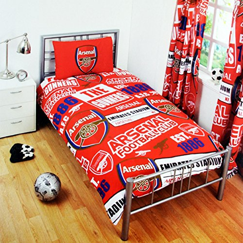 Arsenal Official Single Duvet Set - Multi-Colour