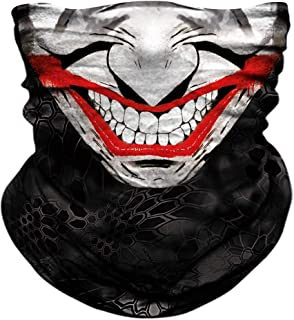 TERNNK Skull Face Mask Half Sun Dust Wind Protection, 3D Tube Mask Seamless Durable Face Mask Bandana Skeleton Face Mask Motorcycle Bike Riding Fishing Hunting Cycling Festival, Many Patterns