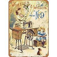 ウィーラー&ウィルソン ミシンブリキサインヴィンテージ面白い生き物鉄の絵金属板パーソナリティノベルティ