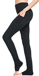 BALEAF Women's High Waist Yoga Pants Over The Heel Tummy Control Tall Leggings Extra Long Side Pocket