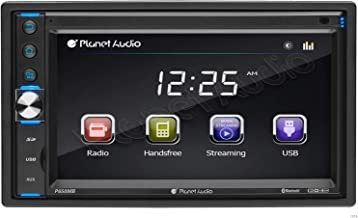 Planet Audio P650MB Multimedia Car Stereo - Double Din, Bluetooth Audio and Hands-Free Calling, MP3 Player, USB, SD, AUX I...