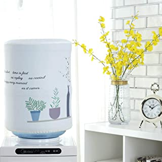 Water Dispenser Barrel Covers for 5 Gallon Water Bottle, Durable Dust Proof Fabric Bucket Decor, Reusable Furniture Standard Cover Protector for Home, Office or Outdoor (Chlorophytum)