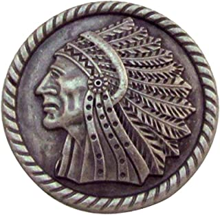Apache Indian Headdress Screw Back Concho Leathercraft Accessory