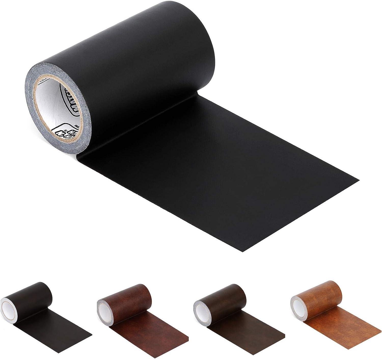 Cinta adhesiva de cuero, reparación de butacas, etc. negro