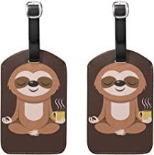 Luggage Tags Yoga Sloth Mens Tag Holder Kids Bag Labels Traveling Accessories 2 Piece