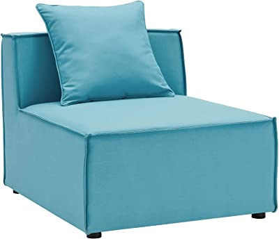 Modway EEI-4209-TUR Saybrook Patio Armless Chair in Turquoise