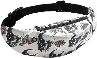 YWSCXMY-AU Colorful 3D Print Women Waist Bag Waterproof Money Travel Mobile Phone Waist Pack Hip Belt Bag Pouch Sports Bag (Color : Green)