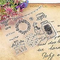 ホット販売クリスマスリース透明クリアスタンプ/シリコーンシールローラースタンプDIYスクラップブックアルバム/カードの生産
