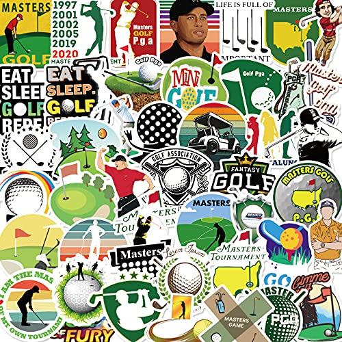 Golf Aufkleber 50 Stück,Aufkleber für Kinder und Teens Erwachsenen,Sportarten Vinyl Aufkleber für Laptop,Skateboard, Auto,Motorräder Fahrrad,Skateboard,Wasserdicht Graffiti Sticker Pack