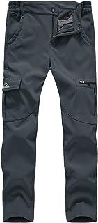 BGOWATU Women's Snow Pants Fleece Line Softshell Winter Insulated Pants with Zip Pocket
