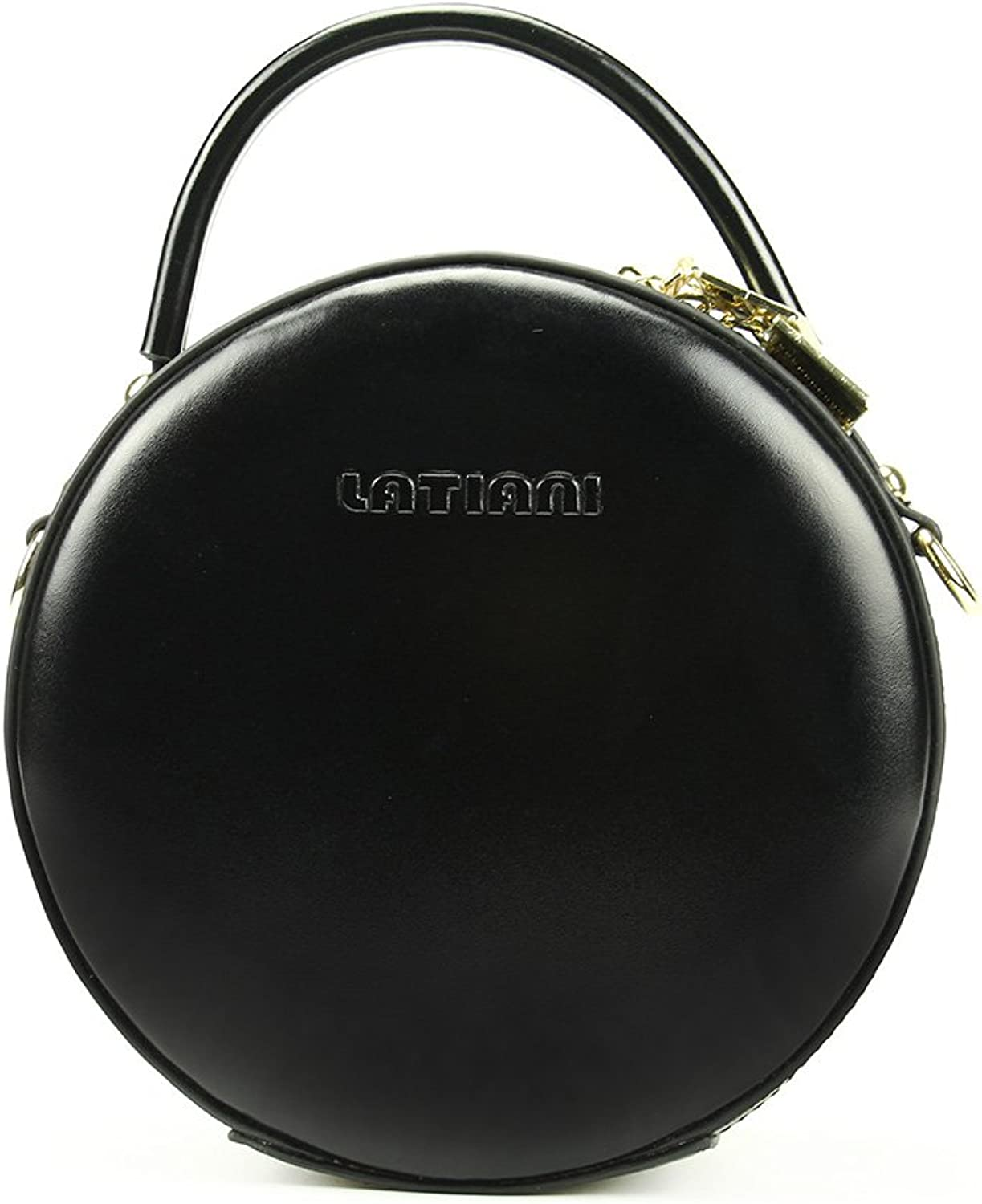 Huailv Women Circle Crossbody Bag Round Leather Shoulder Bag Handbags