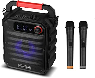 Shinco Portable PA System with 2 Wireless Microphone, Perfect for Karaoke Party, Meeting, Stage Performance
