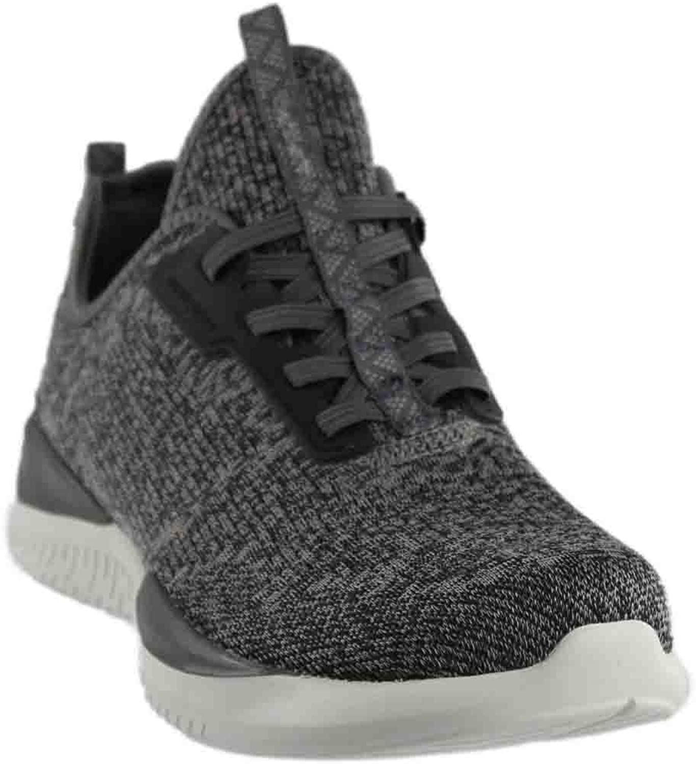 SKECHERS 12456 CHAR MATRIXX KNITTED COMFORT TRAINERS