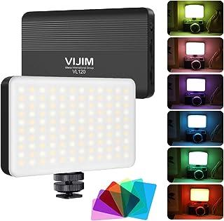 VIJIM VL120 LED Video Light with Softbox and RGB Color Filters,Bi-Color LED Camera Light,Dimmable 3200K-6500K LED Light fo...