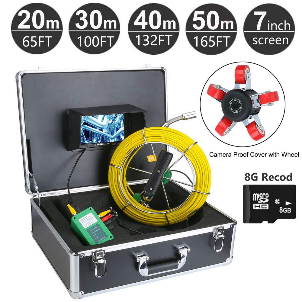 AMOCAM 40M 132ft Pipe half Time sale Sewer Camera Industr Inspection Waterproof