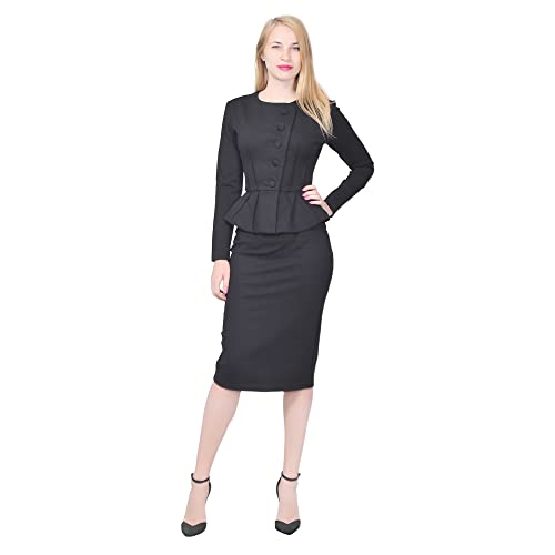 e785751b9cf Marycrafts Women s Formal Office Business Shirt Jacket Skirt Suit