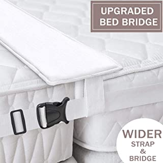 Ottolives Bed Bridge Twin to King Converter Kit, Mattress Extender Set to Fill in Gap, Memory Foam Filler Pad and Connector Strap for Guests Stayovers & Family Gatherings, Storage Bag Included