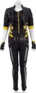 Women Leather Outwear Canary Cosplay Game Battle Outfit Halloween Costumes