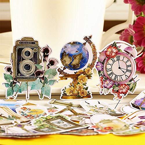 PMSMT 20 Piezas Creativas Bonitas Hechas a sí mismas Retro Necesidades diarias Pegatinas de Scrapbooking/Pegatina Decorativa/álbumes de Fotos artesanales de Bricolaje