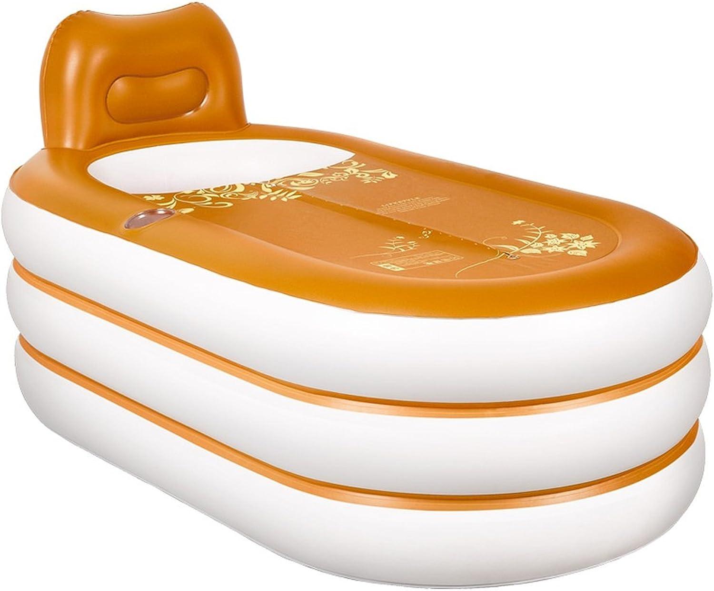 Lyy Home-europischen Stil aufblasbare badewanne Erwachsenen Falten Kunststoff wanne fass Erwachsenen Bad Barrel Bad fass Farbe Auswahl (Farbe   A, gre   Electric air Pump)