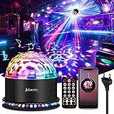 SOLMORE LED Discokugel Bluetooth, LED Lichteffekte Partylicht Musik Player RGB Disco Magic Ball mit Fernbedienung Sprachaktiviertes 6 Lichtmodi für Party Zimmer Weihnachten