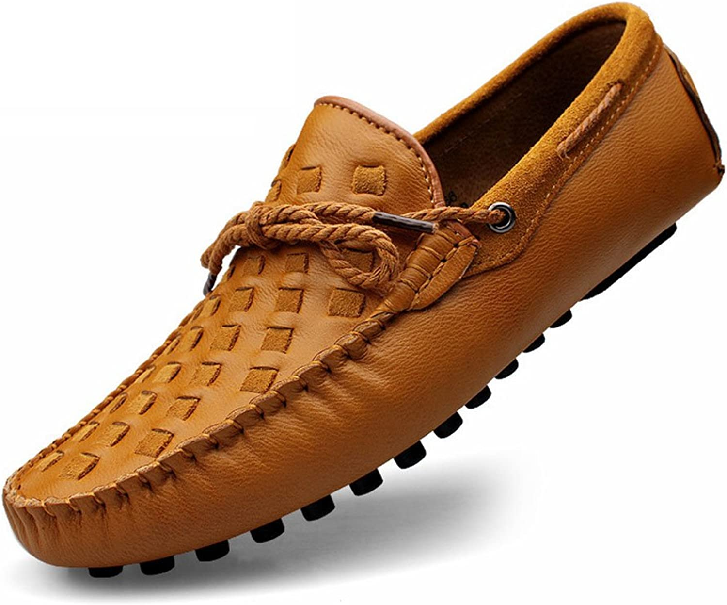 Men's Suede Casual shoes England Wear-Resistant Breathable Driving shoes Moccasin