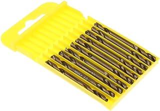 Gulakey 1.5-6.5mm 13pcs HSS Titanium Twist Drills Set Straight Shank Spiral Drill only