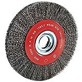 Leman 06429 - Spazzola metallica in acciaio ondulato, diametro 200 mm