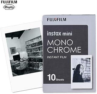 Fujifilm Instax Mini 10 Sheets Monochrome Mono Black Film Photo Paper Instant Print for Fujifilm Instax Mini7s/8/25/50s/70...