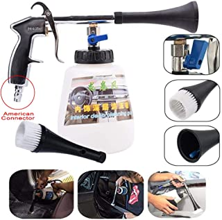 Leegoal Car Interior Cleaner, High Pressure Washing Gun with 1L Cleaning Bottle and Nozzle Sprayer, Air Pulse Equipment Tool for Interior and Exterior Surface, Car Care Essentials(US Adapter)