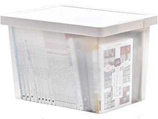 Plastique Givré Boîtes De Rangement Avec Lid,Portable Stackable Paniers De Rangement,Jouets Robustes De Vêtements Triant C...