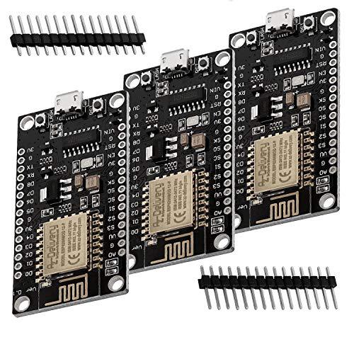AZDelivery 3 x NodeMCU Lua Lolin V3 Module ESP8266 ESP-12F WIFI Development Board unverlötet inklusive E-Book!