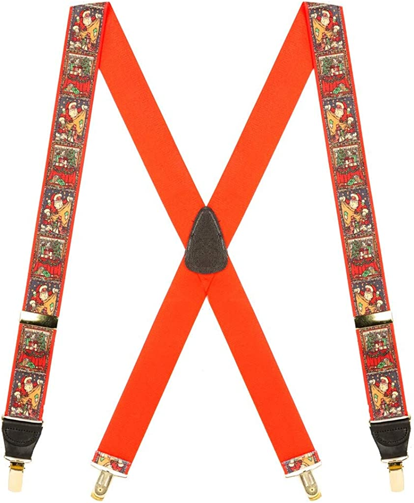 SuspenderStore Men's Dressy Clip-End NEW Popular popular Suspender Christmas Novelty