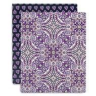Vera Bradley Durable Flexi Plastic Pocket Folder Set of 2, Dream Tapestry